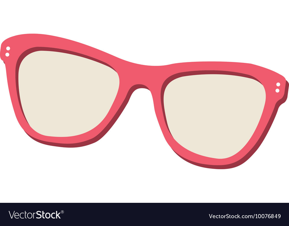 Sunglasses eyewear isolated icon vector image