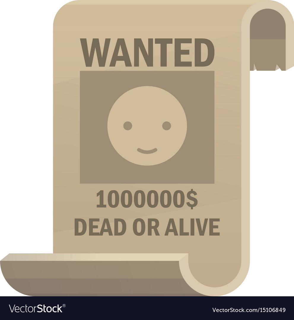 Wanted dead or alive icon vintage western poster
