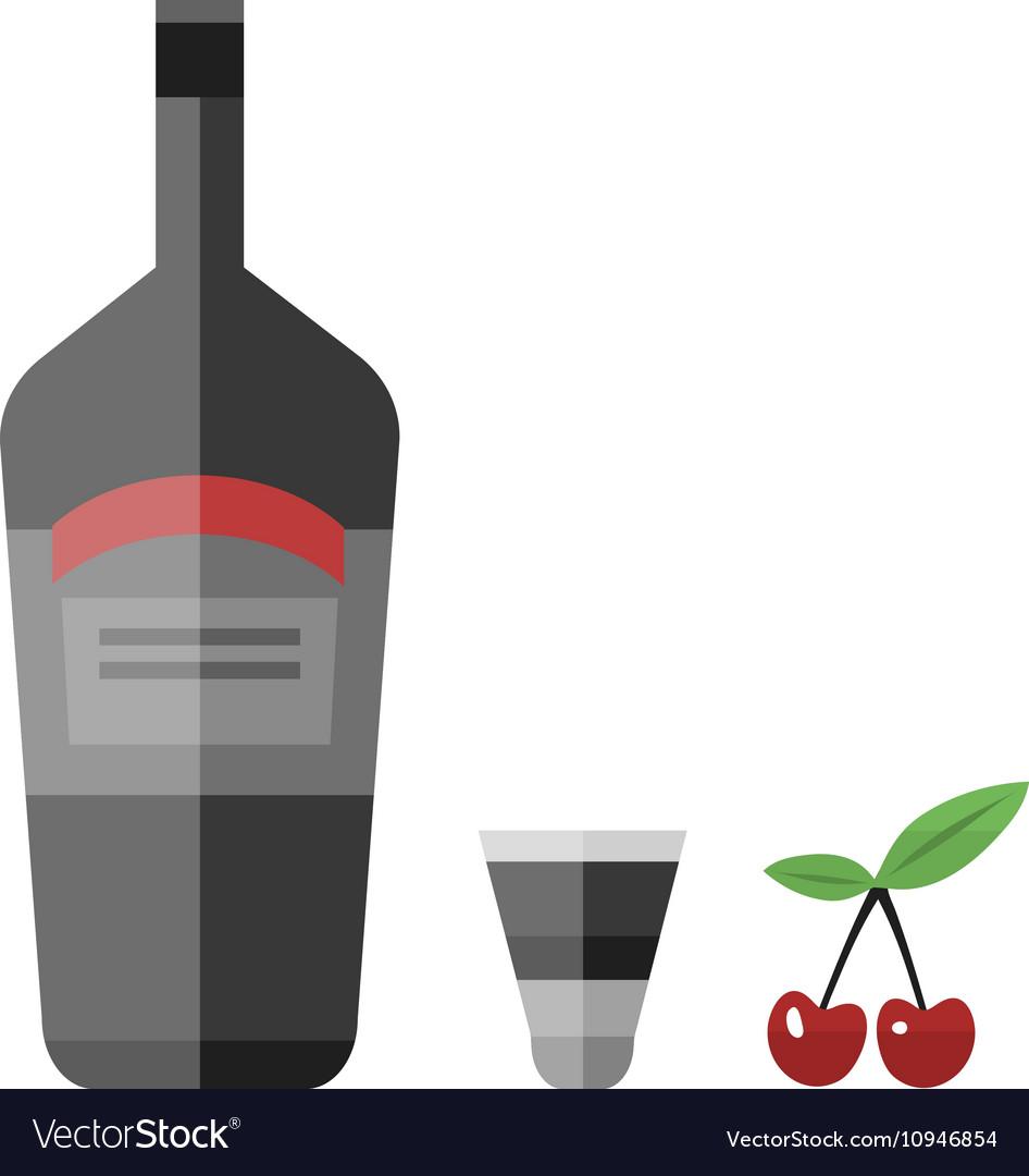 Alcohol drink bottle