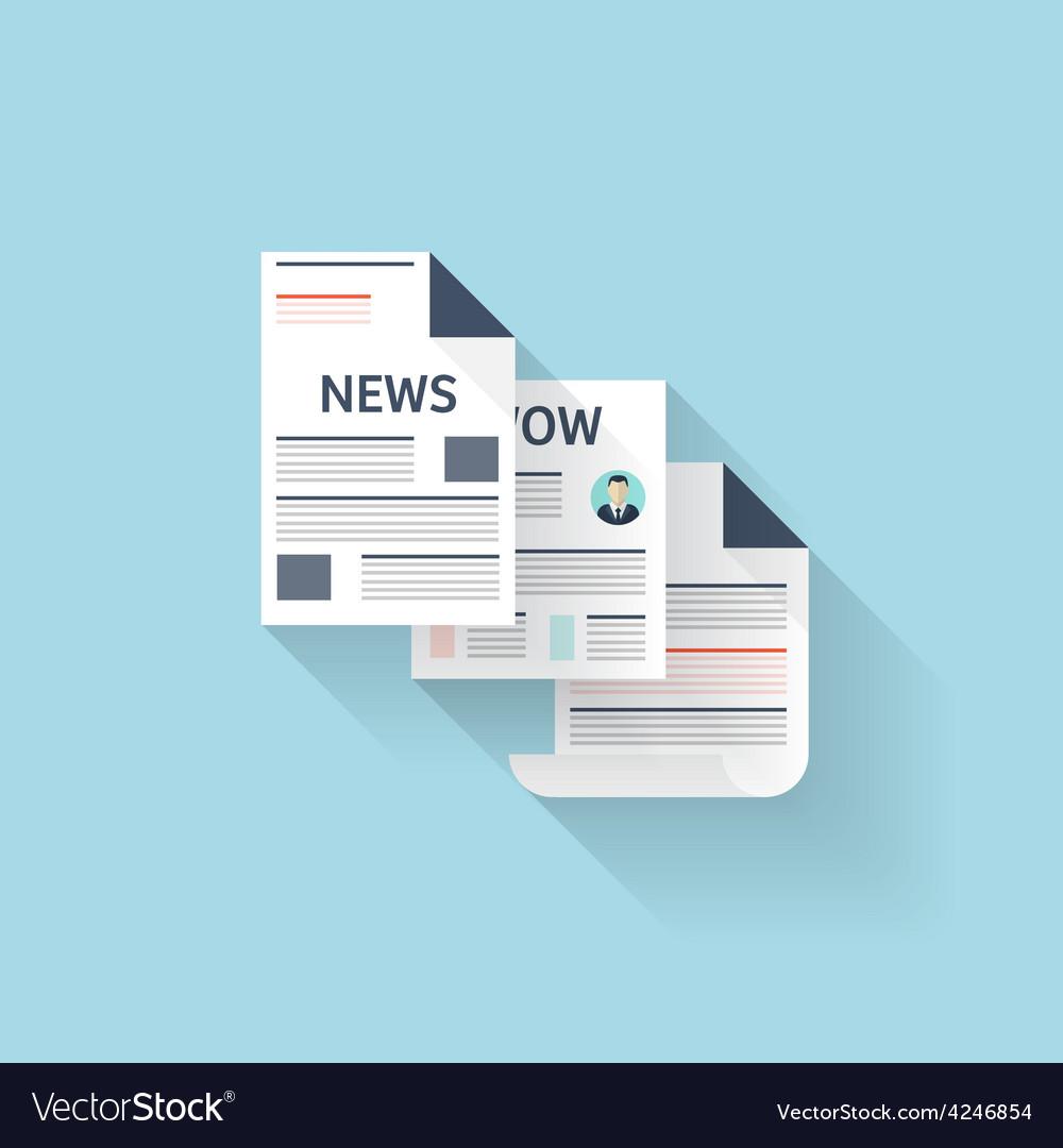 Flat web icon Newspaper