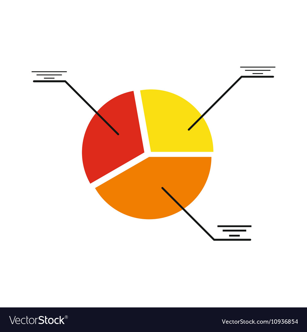 Modern flat icon pie Chart on white background