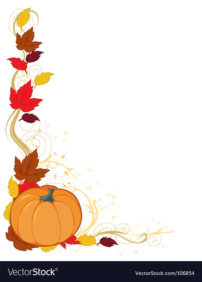 Pumpkin autumn border vector image
