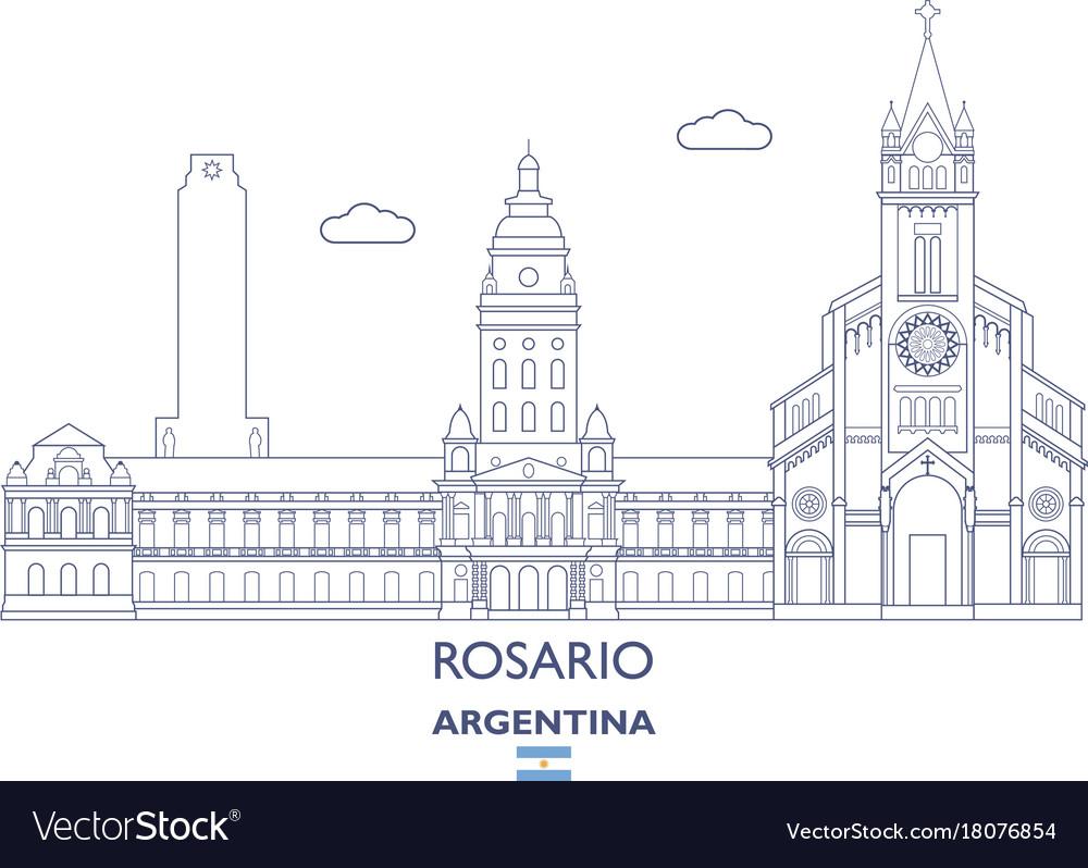 Rosario city skyline