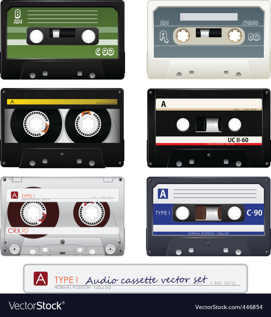Vector audio cassettes vector image