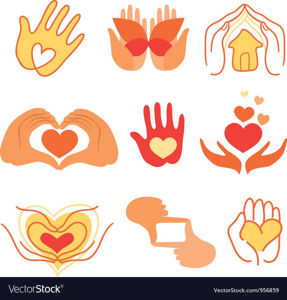 Collection of love signs