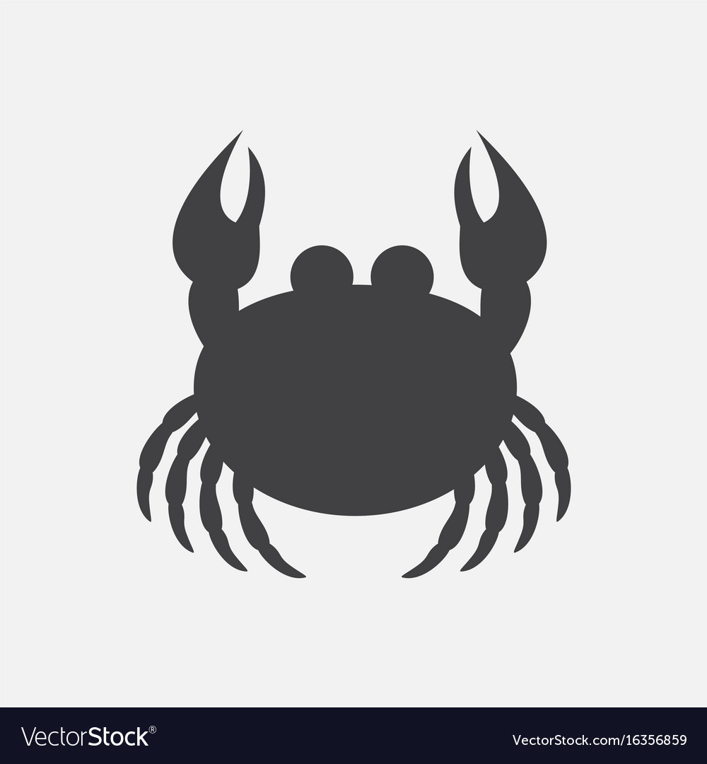 Crab in cartoon style seafood product design vector image