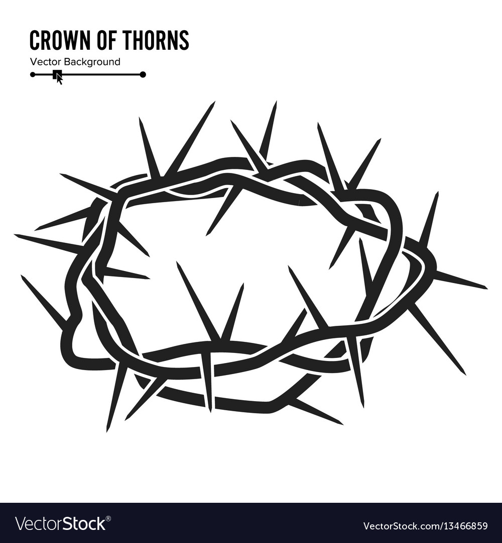 Crown of thorns silhouette of a crown of thorns