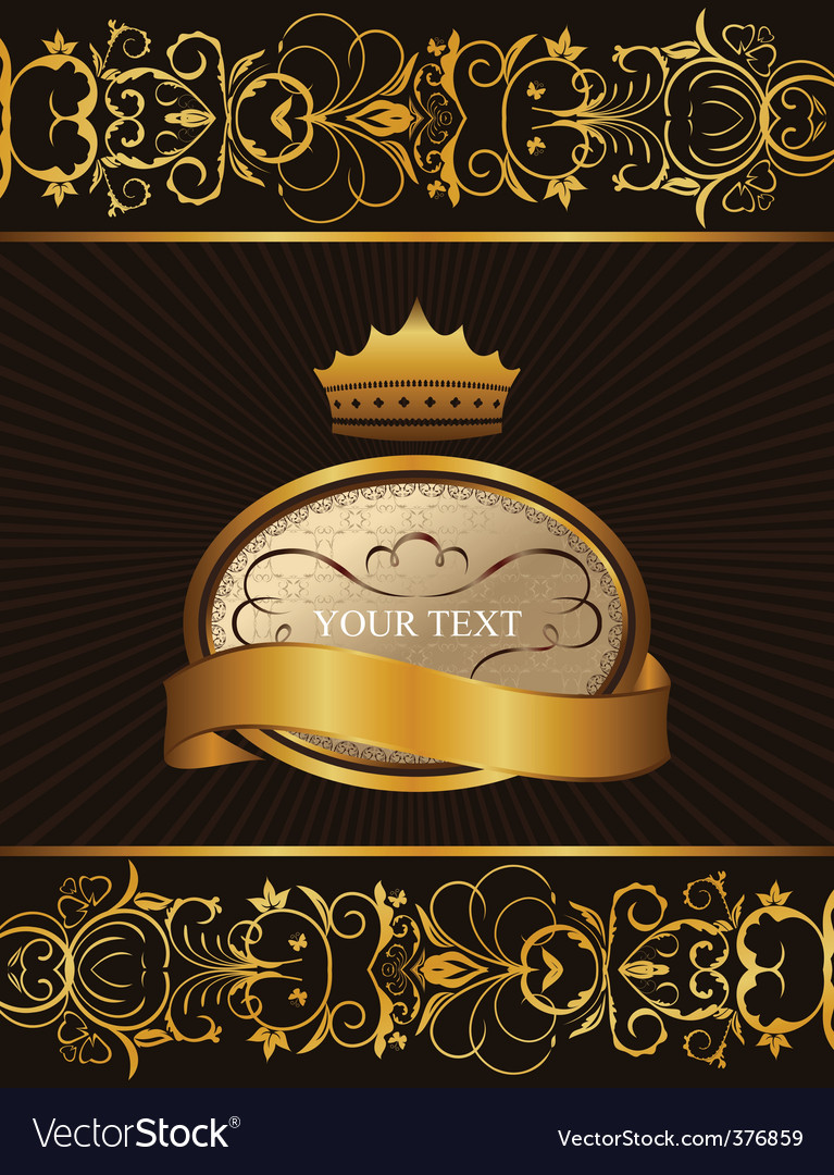 Decorative background with crown