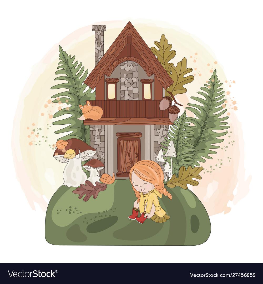 Fairy girl house autumn fall nature