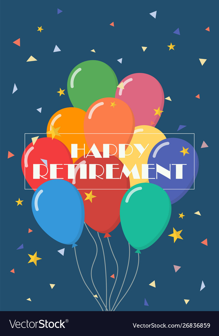 Happy retirement with balloons
