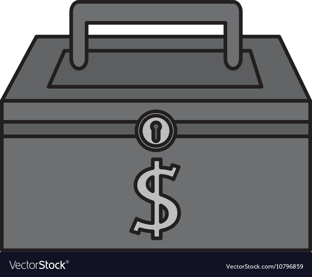 Money security box icon