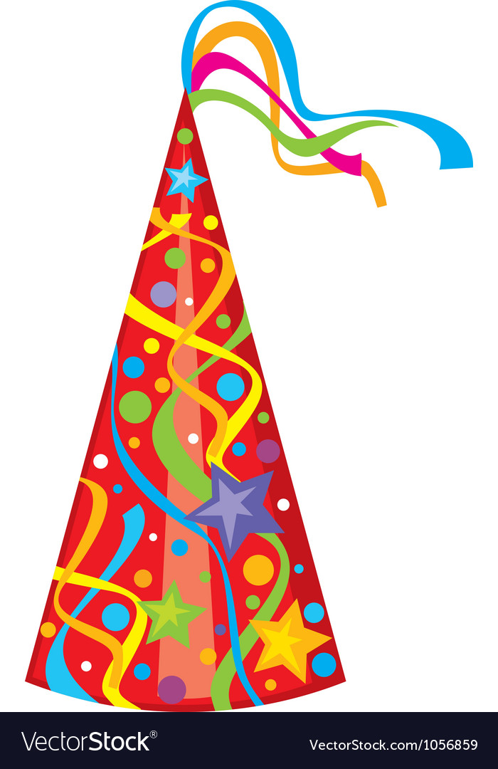 party hat birthday hat royalty free vector image rh vectorstock com party hat vector transparent party hat vector icon