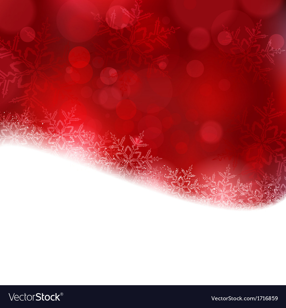 Red Christmas Background.Red Christmas Background With Blurry Lights