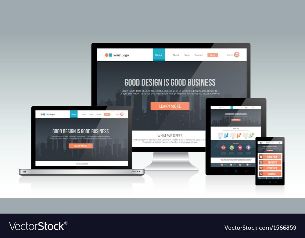 Responsive Website Design vector image