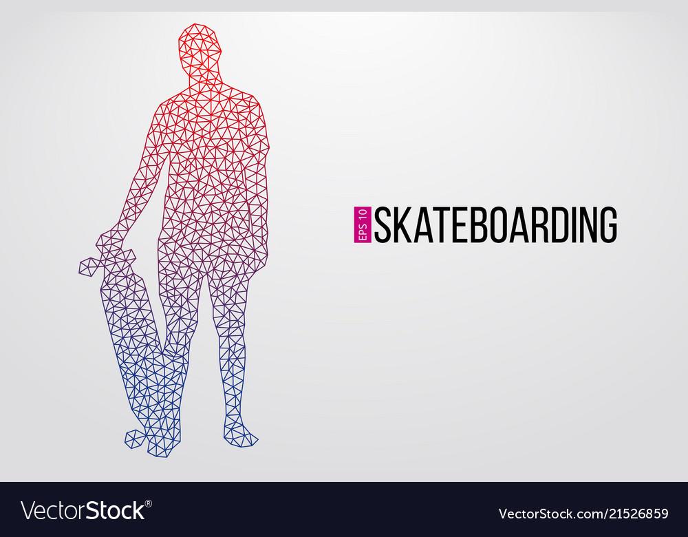 Silhouette of a skateboarder