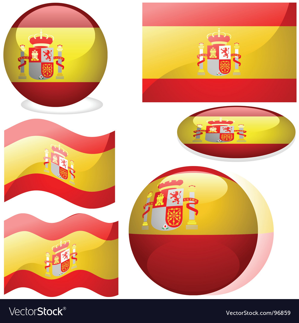 spain flags royalty free vector image vectorstock