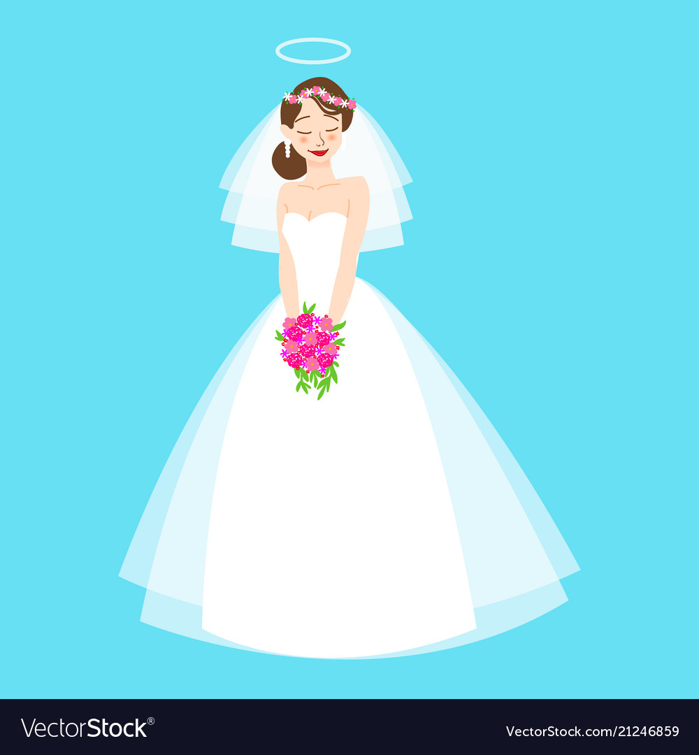 Young beautiful bride is in an elegant wedding