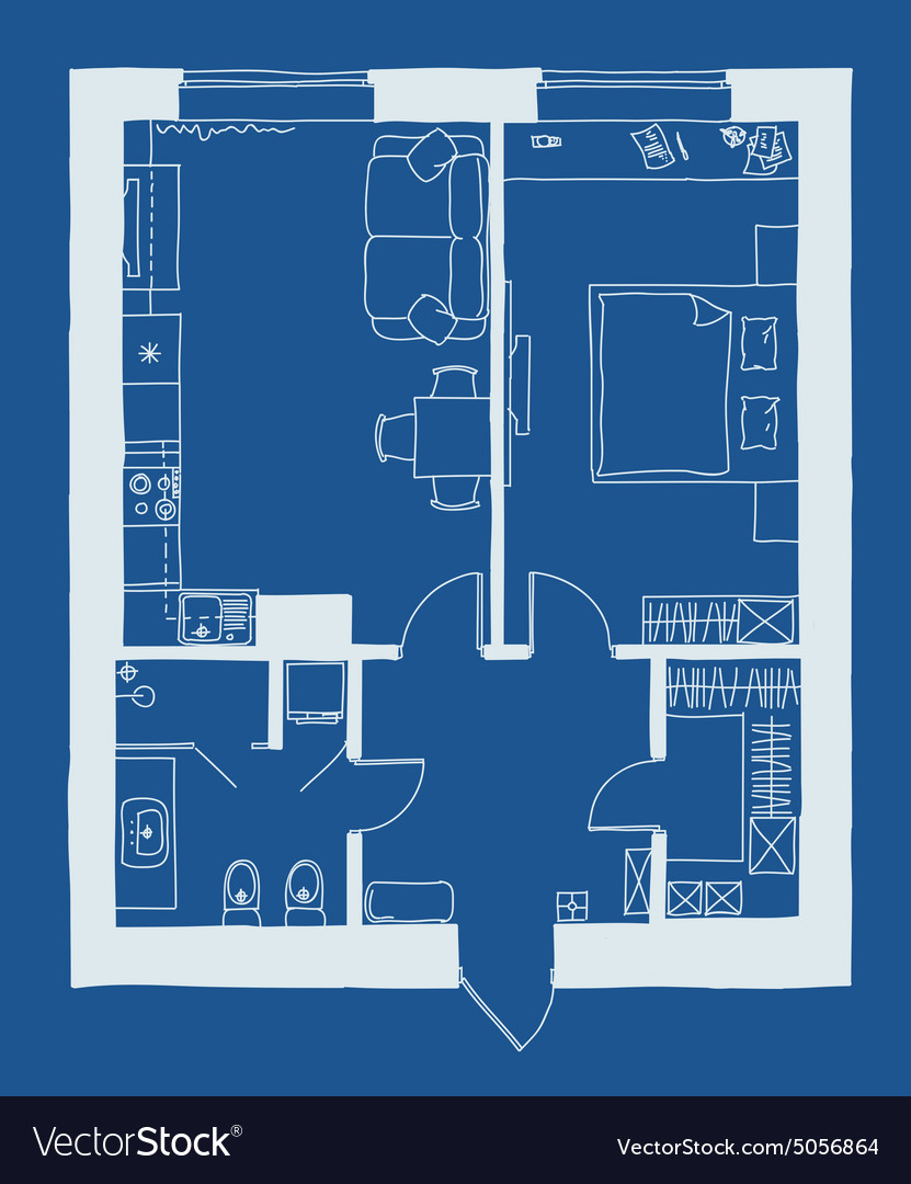 Architecture blueprint plan royalty free vector image architecture blueprint plan vector image malvernweather Images