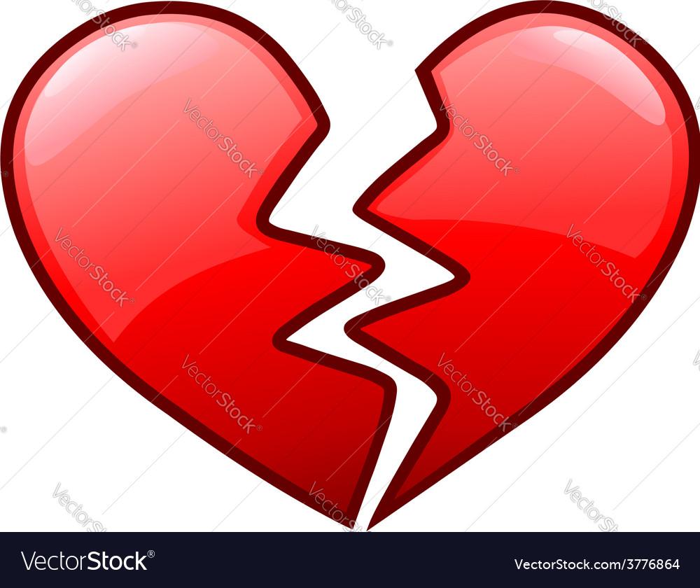 broken heart icon royalty free vector image vectorstock