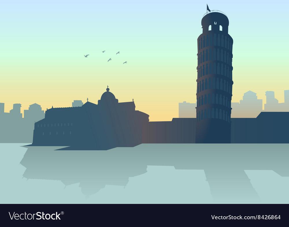 City Pisa Italy vector image