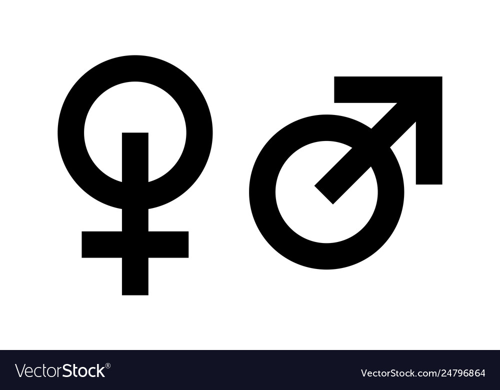 Icons masculine and feminine man and woman