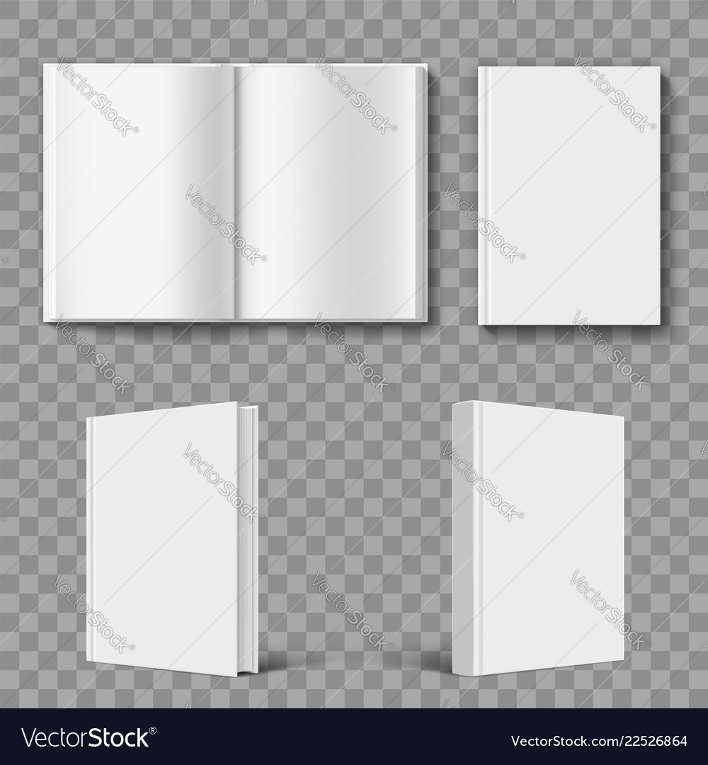 Set of blank book cover template