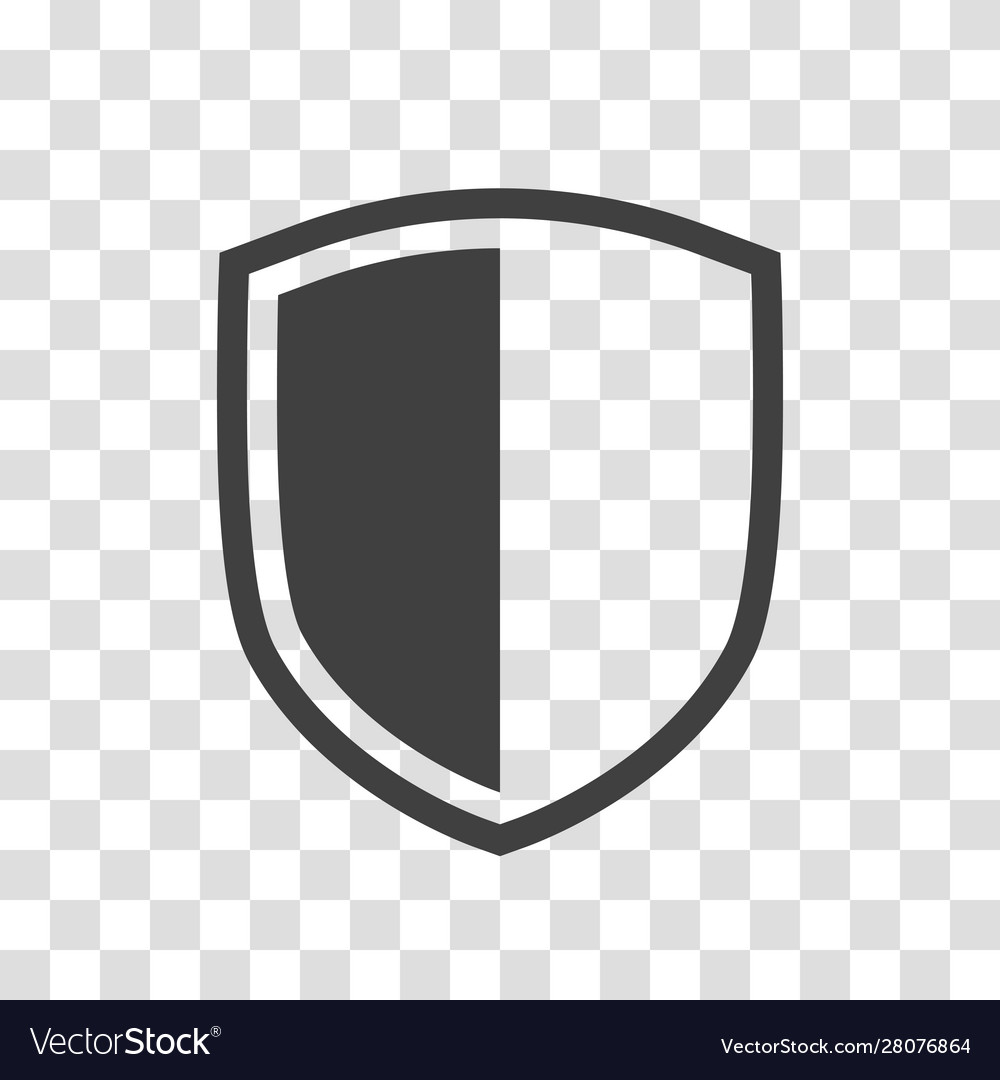 Shield Icon Isolated On Transparent Background Vector Image Spon Isolated Icon Shield Transparent Ad Shield Icon Light Bulb Icon Wall Clock Vector
