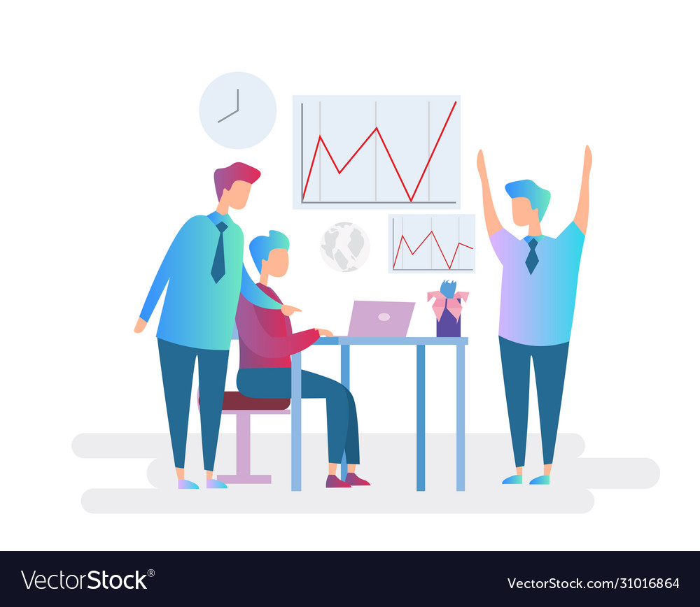 Teamwork business character concept flat design