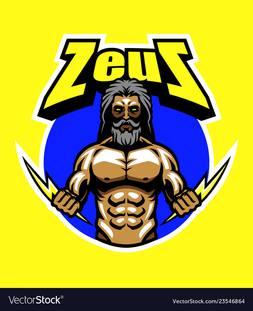 Zeus And Lightning Bolt Royalty Free Vector Image