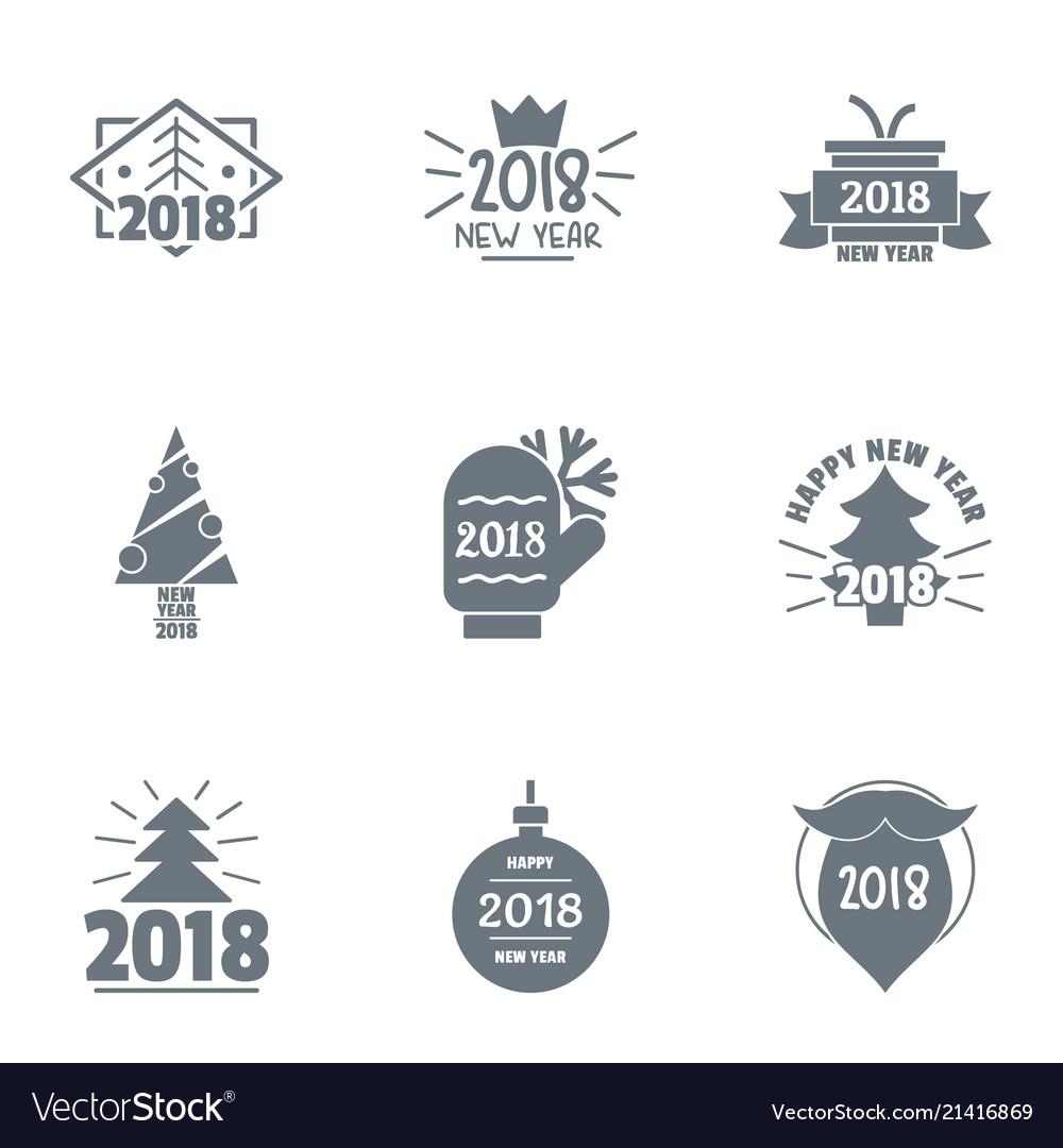 Annum logo set simple style