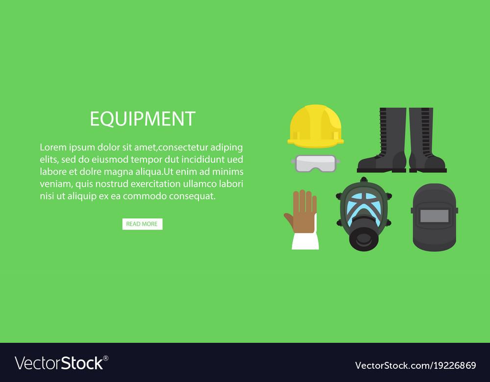 Equipment advertising web banner
