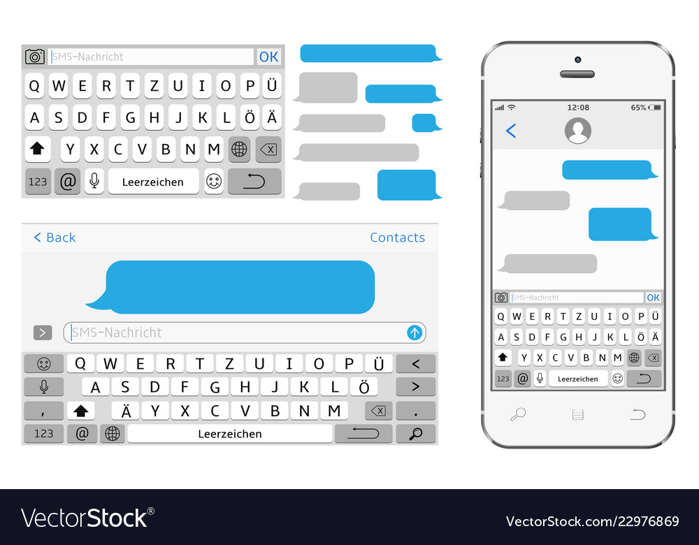 Germany alphabet virtual keyboard phone