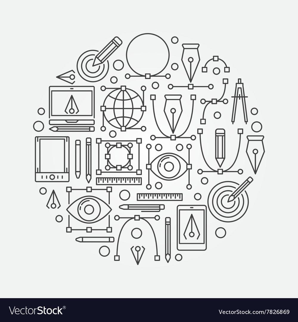 Graphic design round
