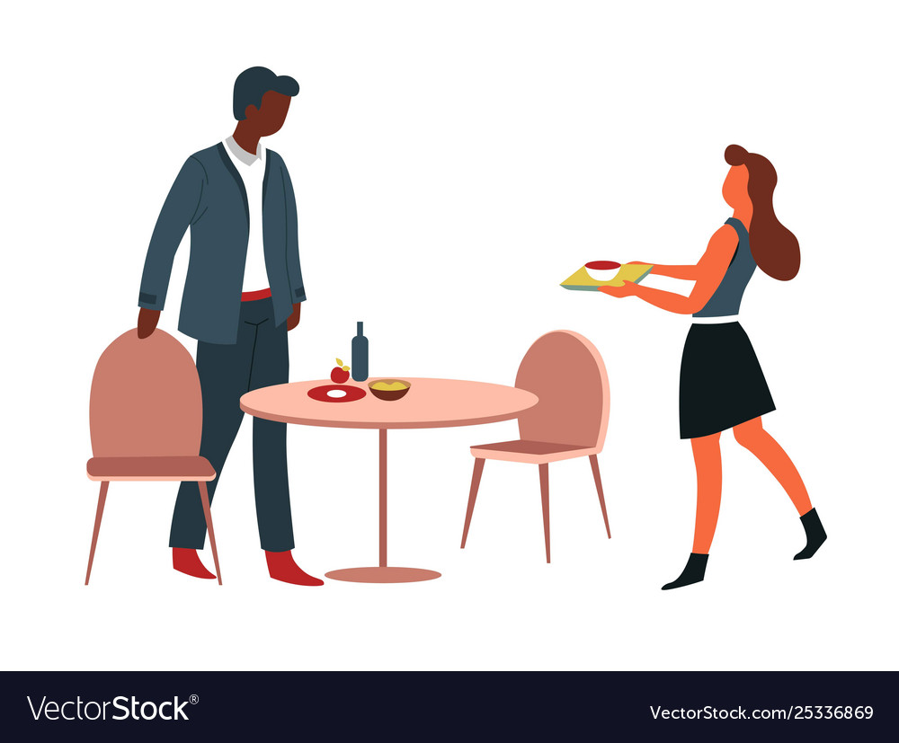 Man and woman having lunch at office canteen table