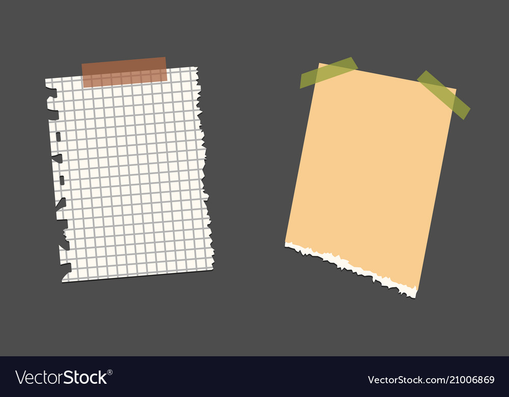 Old torn paper with ragged edge vintage note vector image