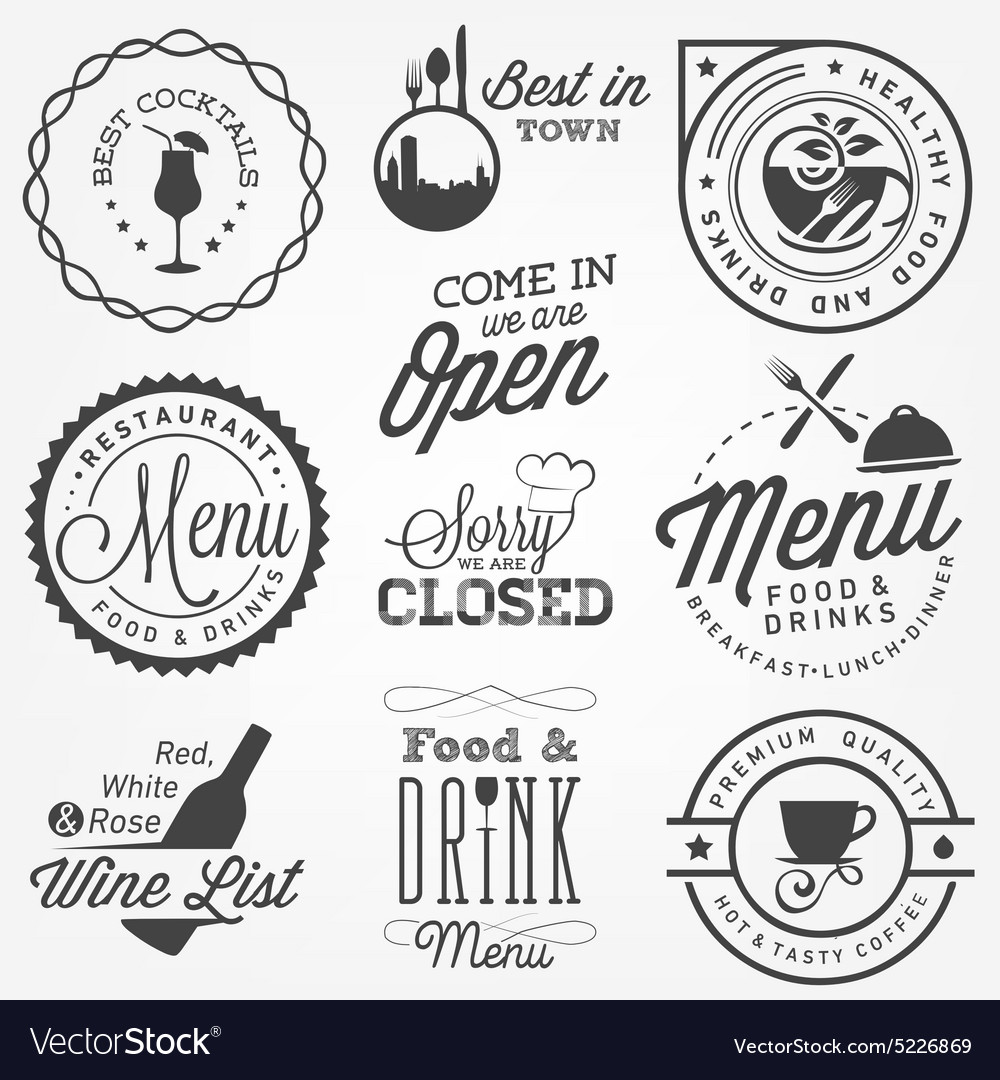 Restaurant Menu Design Elements in Vintage Style