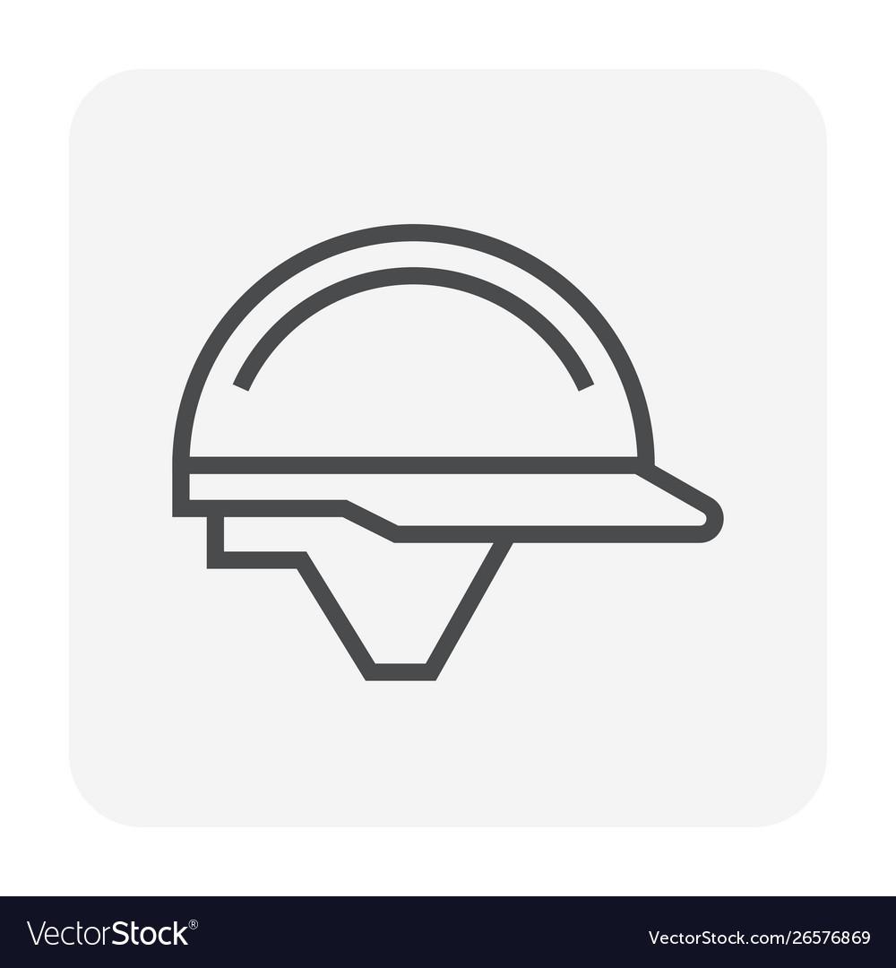 Safety helmet icon