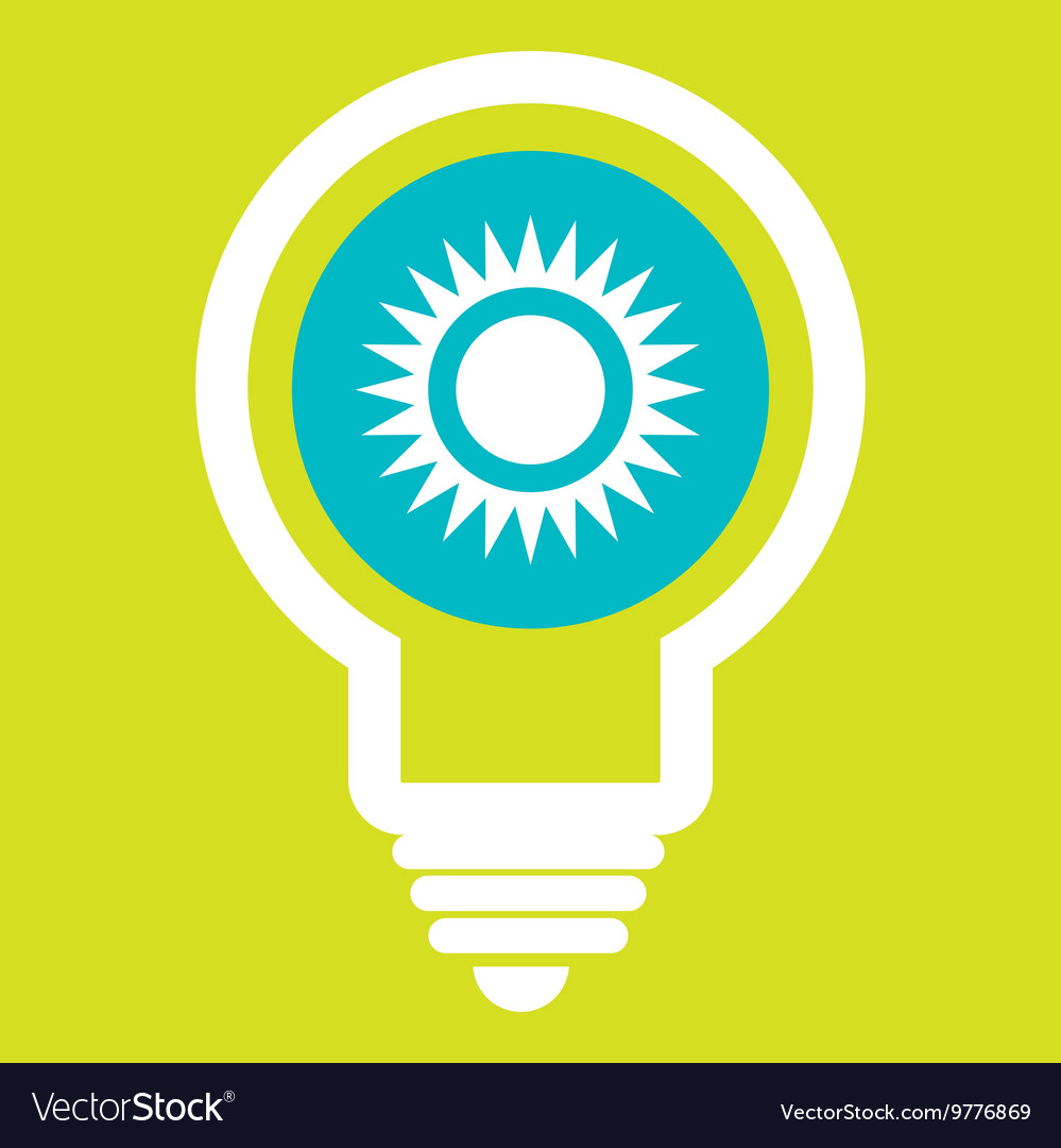 Sun and environment isolated icon design vector image