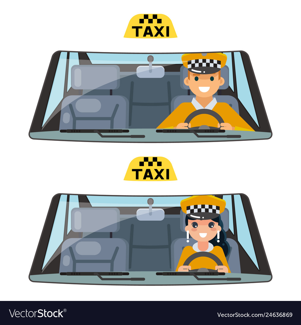 Taxi vehicle interior driver worker car wheel ride