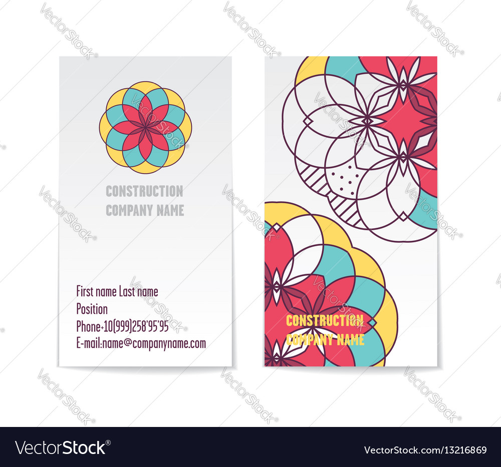 Two sided corporate business card template vector image reheart Gallery