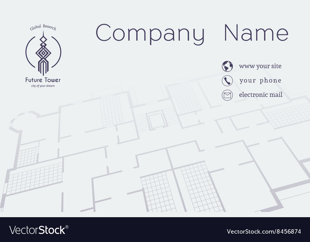 Architectural Business Card Royalty Free Vector Image
