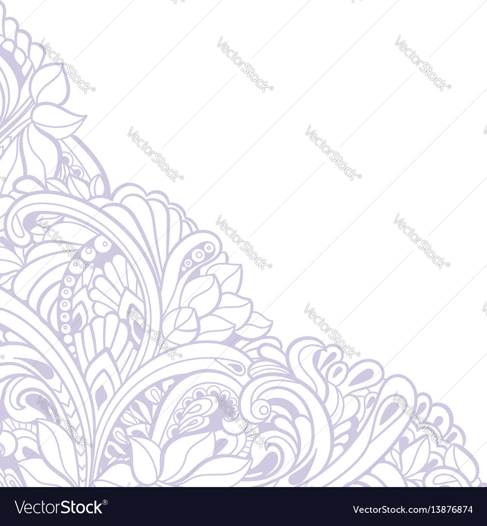 Hand-drawn decorative floral element for design