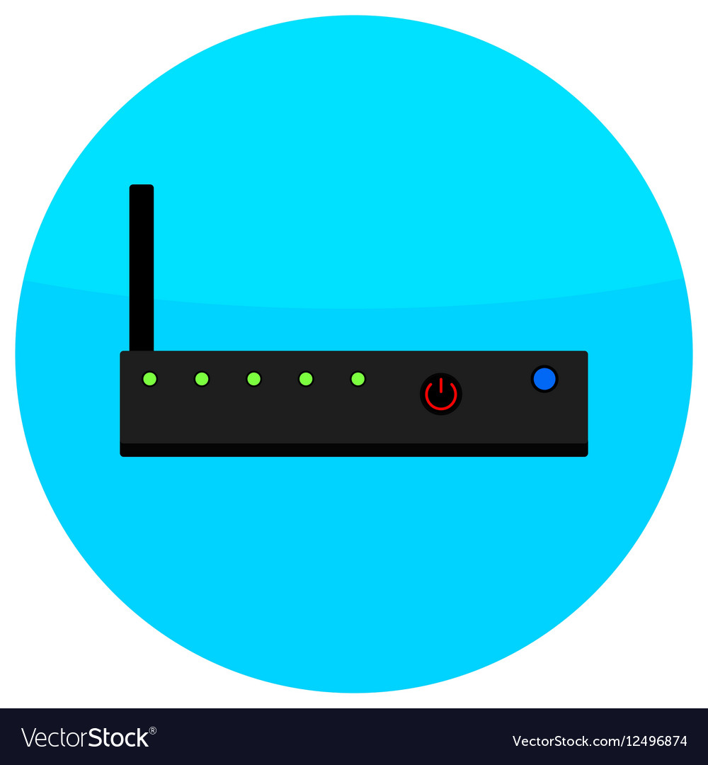 Icon router flat