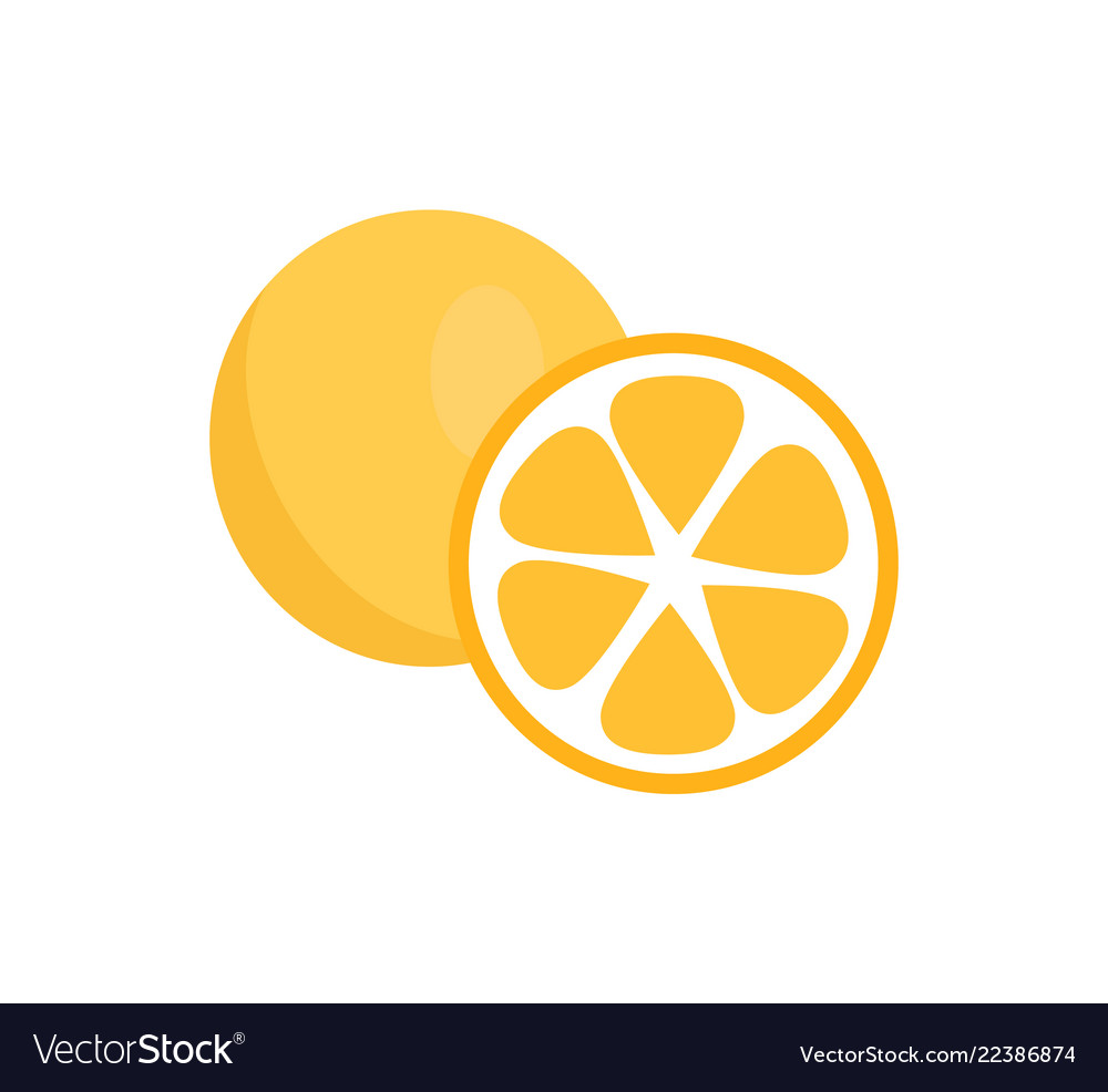 Orange fruits icons closeup