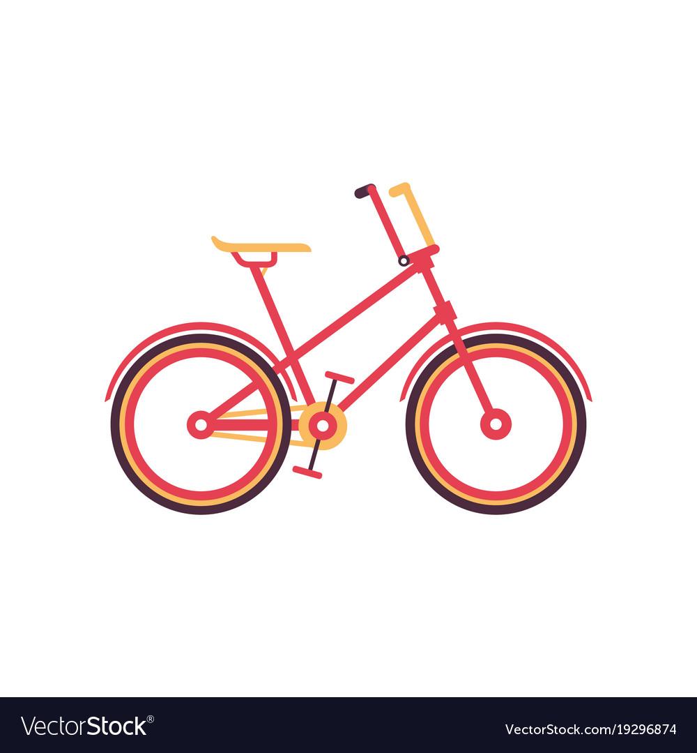 Red vintage bike modern bicycle