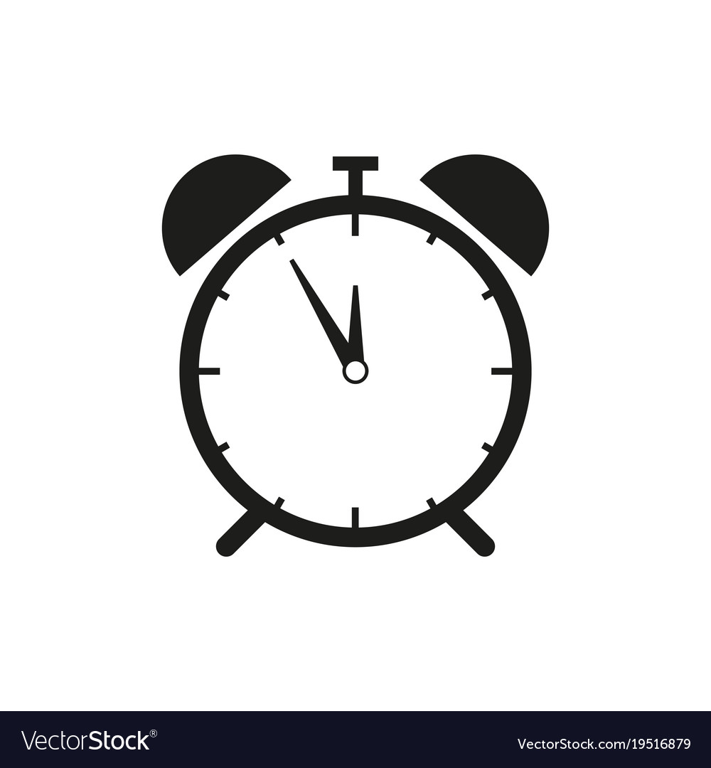 alarm clock icon royalty free vector image vectorstock rh vectorstock com sand clock icon vector clock icon vector free download