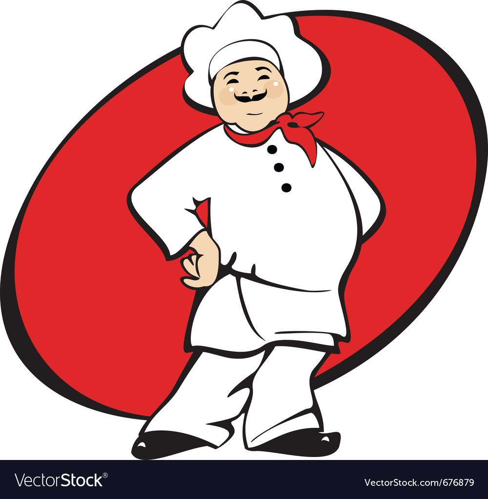 Cook man cartoon vector image