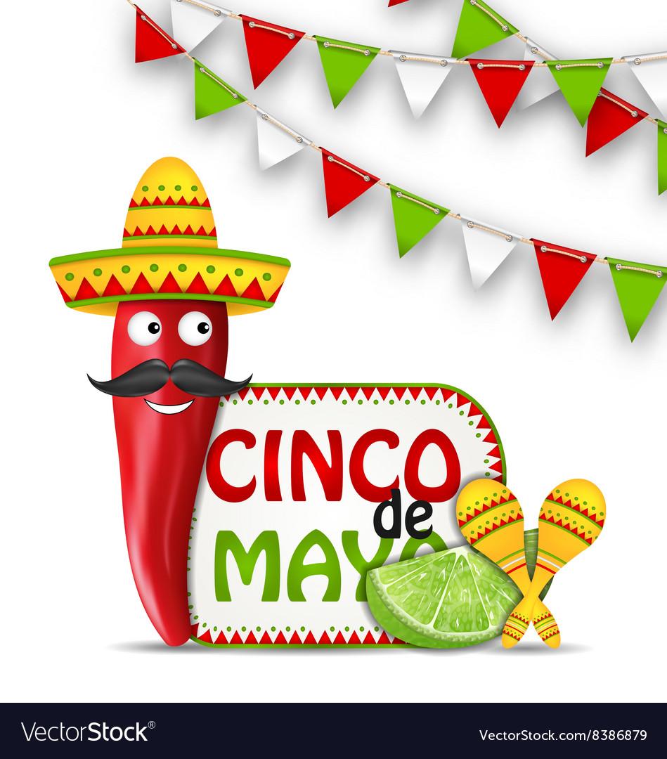 Holiday Celebration Background For Cinco De Mayo Vector Image