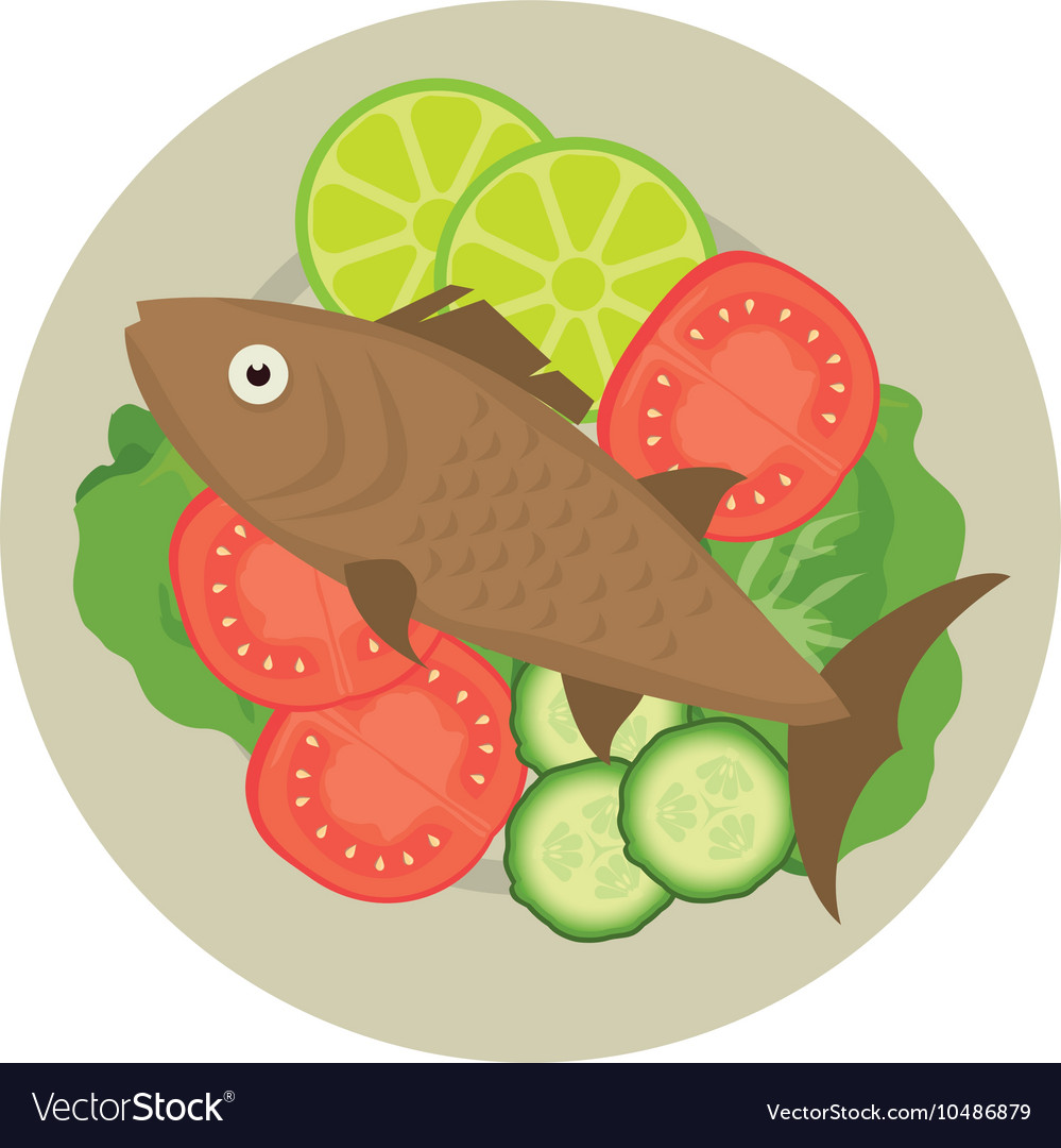 Seafood fish plate