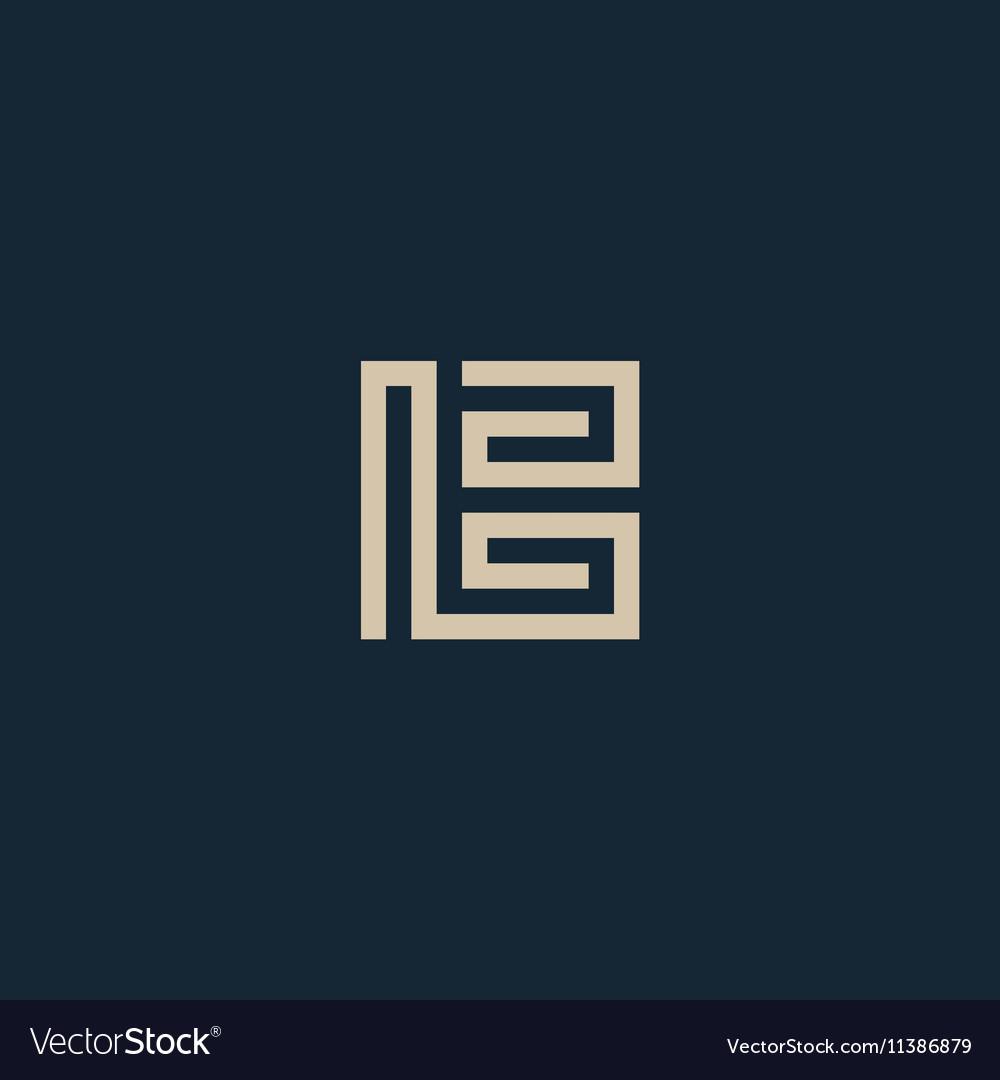 Unusual geometric letter B Architecture vector image